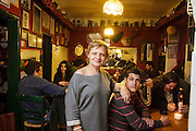 "Mrs. Anabela Paiva, the owner of ""Bela - Vinhos e Petiscos"" bar in Alfama district in Lisbon."