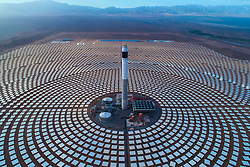 BEIJING, Dec. 21, 2018  Photo provided by Shandong Electric Power Construction Co., Ltd (SEPCO III) shows part of Morocco's NOOR III Concentrated Solar Power (CSP) project in Ouarzazate, Morocco, on June 7, 2018. In past years, China and African nations have deepened mutual assistance in development and made concerted efforts in building a closer China-Africa community with a shared future. (Credit Image: © Xinhua via ZUMA Wire)