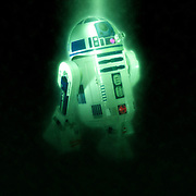 Digitally enhanced image of Star Wars R2-D2 robot