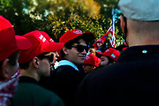 WASHINGTON, D.C: NOVEMBER 14, 2020-  Thousands of supporters of U.S. President Donald Trump attend the Million Maga March aka March for Trump held at Freedom Plaza and along the streets of Washington, D.C. in hopes of securing the win for another term for President Trump which by all indications he has lost to the President-Elect Joe Biden on November 14, 2020 in Washington, D.C. Supporters march through the streets of D.C. from Freedom Plaza to the Supreme Court Building for a rally.    (Photo by Terrence Jennings/terrencejennings.com)