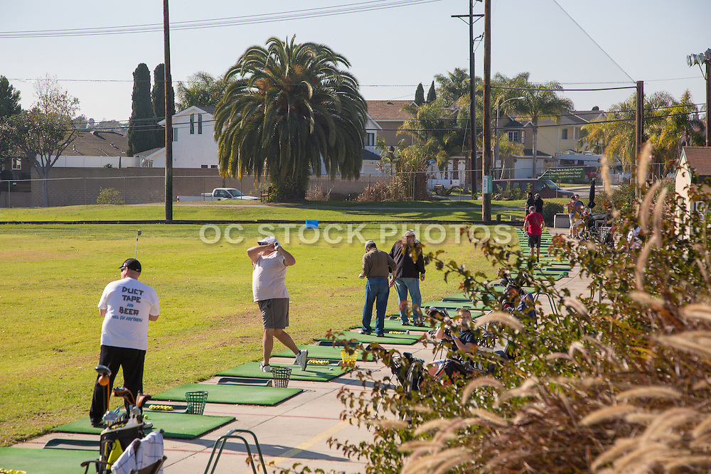Golfers at the Driving Range at Meadowlark Golf Club