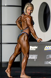 September 15, 2018 - Las Vegas, Nevada, U.S. -  KIRA NEUMAN of the U.S. competes in the Women's Physique Olympia during Joe Weider's Olympia Fitness and Performance Weekend 2018.(Credit Image: © Brian Cahn/ZUMA Wire)