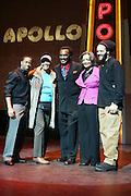 l to r: Change, Dione Warwick, Chuck Jackson, Jonell Procope and Savion Glover at the Apollo Theater 75th Birthday Celebration Press Conference announcing its special anniversary programming across Harlem, New York, and the Nation.