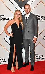 Harry Kane and girlfriend Katie Goodland during the red carpet arrivals for the BBC Sports Personality of the Year 2018 at The Vox at Resorts World Birmingham.