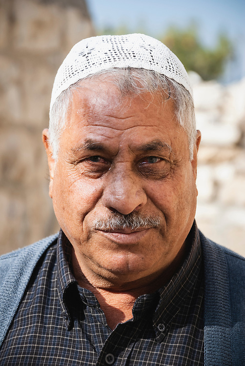 Jerusalem - December 11, 2006: Mahmoud Al-Abed, 65, in the Ras al-Amud neighborhood of East Jerusalem. Picture taken outside a home demolished an hour earlier by Israeli authorities.