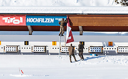 18.01.2017, Biathlonarena, Hochilzen, AUT, IBU Weltmeisterschaft Biathlon, Hochfilzen, Vorberichte, im Bild der Schiessstand // Preview for the Upcoming IBU Biathlon World Championships 2017at the Biathlonarena, Hochfilzen, Austria on 2017/01/02. EXPA Pictures © 2017, PhotoCredit: EXPA/ JFK