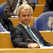 NLD/Den Haag/20070412 - Visit of Mr. Hans-Gert Pöttering, president of the European parliament to The Hague, visiting the second chamber of the Dutch parliament, chamber member Geert Wilders.  ** foto + verplichte naamsvermelding Brunopress/Edwin Janssen  **
