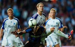 Football: Champions League Qualification.Mohamed Tchite, Club Brugge - Thomas Kristensen, FCK FC Kopenhagen.© pixathlon