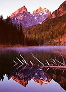 Cathedral Group and String Lake at Dawn, Grand Teton National Park, Wyoming
