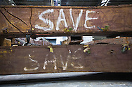 Artifacts chosen by curators out of the wreckage  from the World Trade Center  stored temporarily within an 80,000 square foot hanger at JFK airport, Hanger 17 . Some of the artifacts will be in the National September 11 Memorial Museum set to open in 2012..