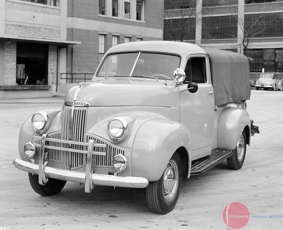 1947 Studebaker M5 pickup truck equipped with many options and accessories.