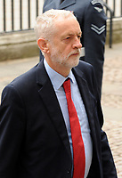 Jeremy Corbyn at the RAF centenary ceremony held at Westminster Abbey in London, UK on the 10th July 2018. Photo: