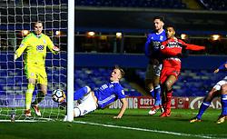 Marc Roberts of Birmingham City scores an own goal - Mandatory by-line: Robbie Stephenson/JMP - 06/02/2018 - FOOTBALL - St Andrew's Stadium - Birmingham, England - Birmingham City v Huddersfield Town - Emirates FA Cup fourth round proper