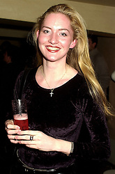 MISS MONICA HAYES, at a party in London on 14th November 2000.OJC 37