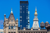towers rooftop aUnion Square  Manhattan Landmarks in New York City USA