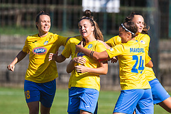 Players of ZNK Pomurje celebrating their first goal during football match between ZNK Pomurje and FC Nike in 2nd Round of UWCL qualifying 2019/20, on Avgust 10, 2019 in Sportni Park Beltinci, Beltinci, Slovenia. Photo by Blaž Weindorfer / Sportida