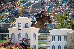 Fernandez Saro Manuel, ESP, U Watch<br /> owner of the horse of Jerome with arms in the air<br /> Olympic Games Rio 2016<br /> © Hippo Foto - Dirk Caremans<br /> 14/08/16