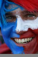 Photo: Steve Bond.<br /> USA v Czech Republic. Group E, FIFA World Cup 2006. 12/06/2006.<br /> Czech fan showing his colours.
