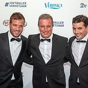NLD/Hilversum/20190902 - Voetballer van het jaar gala 2019, Rafael van der Vaart, vader Ramon van der Vaart <br />  en broer Fernando <br />  en broer Fernando