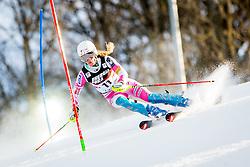 "Resi Stiegler (USA) during FIS Alpine Ski World Cup 2016/17 Ladies Slalom race named ""Snow Queen Trophy 2017"", on January 3, 2017 in Course Crveni Spust at Sljeme hill, Zagreb, Croatia. Photo by Žiga Zupan / Sportida"