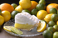KEVIN BARTRAM/The Daily News.Lemon pie is surrounded by a variety of citrus fruit on Thursday, May 19, 2005.