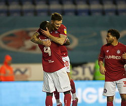 Jamie Paterson of Bristol City (C) celebrates after scoring his sides first goal - Mandatory by-line: Jack Phillips/JMP - 11/01/2020 - FOOTBALL - DW Stadium - Wigan, England - Wigan Athletic v Bristol City - English Football League Championship