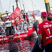 © Maria Muina I MAPFRE. Arrival of leg 1 from Alicante to Lisbon. Llegada de la etapa 1 de Alicante a Lisboa.