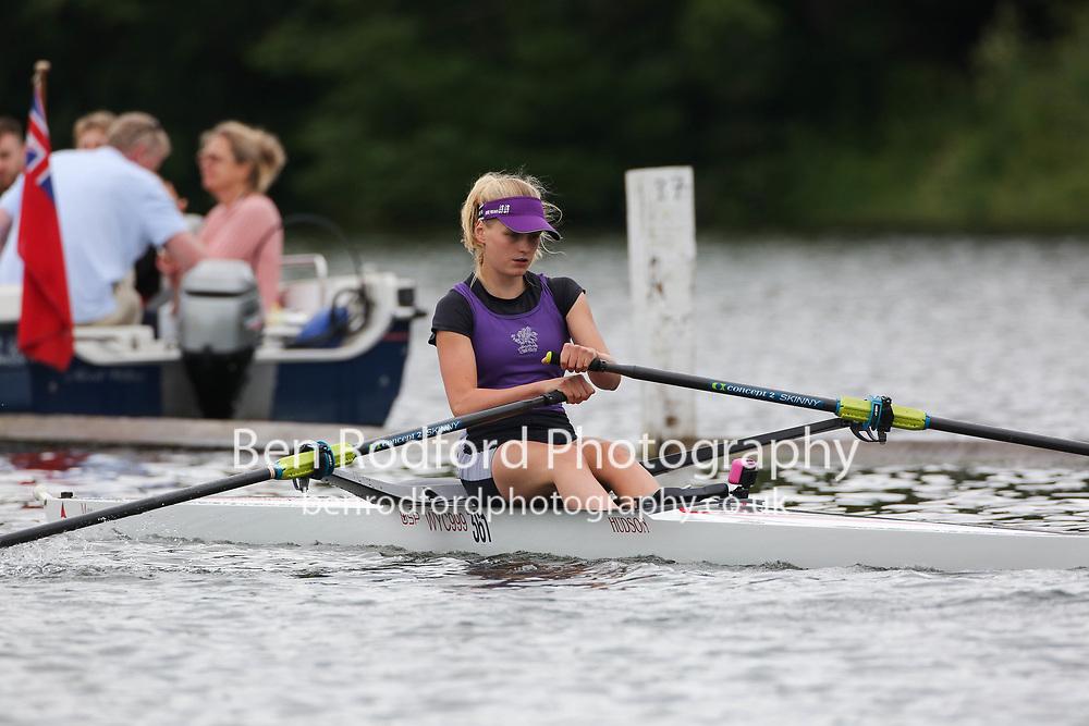 Junior 1x  Heat<br /> <br /> Wycliffe Junior Rowing Club <br /> Newark RC <br /> <br /> Henley Women's Regatta 2021<br /> Saturday