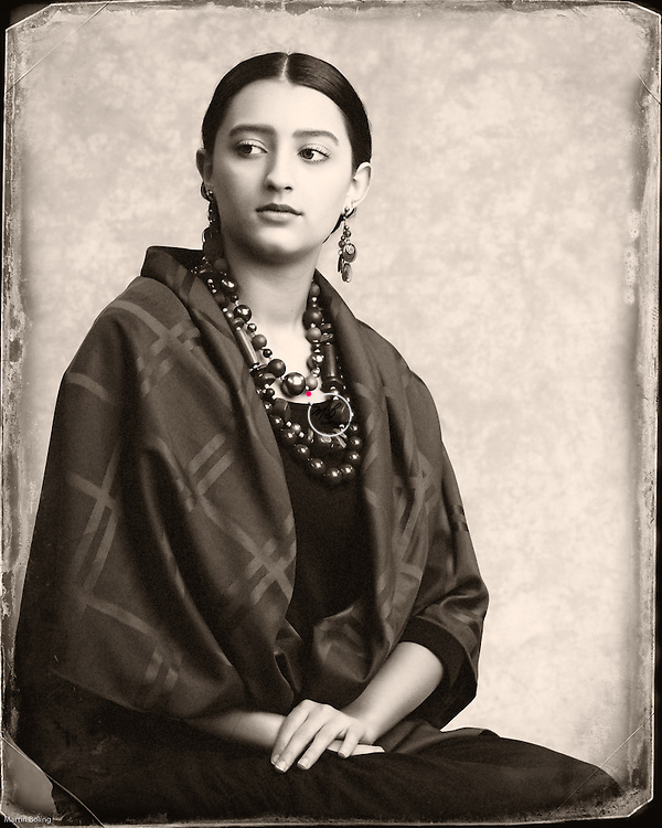 1930s Mexican Frida Kahlo Style. <br /> Hair & Makeup by Robin Sullivan.