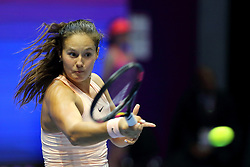 February 3, 2018 - St. Petersburg, Russia - February 3, 2018 - St. Petersburg, Russia - Russia, St. Petersburg, international female tennis tournament of WTA St.Petersburg Ladies Trophy 2018 - Daria Kasatkina-Kristina Mladenovich. (Credit Image: © Russian Look via ZUMA Wire)
