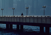Walkway Silhouette, Hong Kong, June 1990