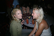 Fiona and  Olympia Scarry. Ian Schrager party  to launch 50 Gramercy Park North . Schrager, with the help of  architect John Pawson, is building a block of 23 residences facing Gramercy Park,New York.   The party was held at the Sanderson Hotel London. 9  June 2005. ONE TIME USE ONLY - DO NOT ARCHIVE  © Copyright Photograph by Dafydd Jones 66 Stockwell Park Rd. London SW9 0DA Tel 020 7733 0108 www.dafjones.com