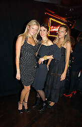 Left to right, OLYMPIA SCARRY, LARA BOHINC and SARA BRAJOVIC at a party to celebrate Zandra Rhodes's return to London Fashion week and the launch of a limited edition of M.A.C makeup at Silver, 17 Hanover Square, London W1 on 20th September 2006.<br /><br />NON EXCLUSIVE - WORLD RIGHTS