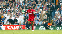 Photo: Chris Ratcliffe.<br />Liverpool v West Ham United. The FA Cup Final. 13/05/2006.<br />Djibril Cisse of Liverpool celebrates scoring the first Liverpool goal.