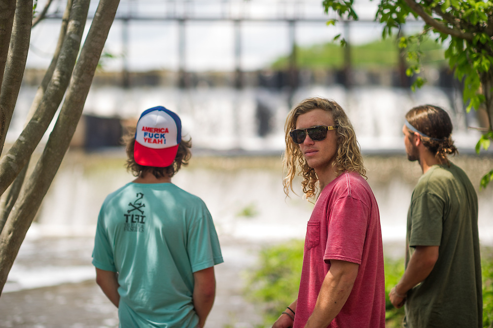 (L) Davis Griffin (M) Chris Abadie (R) Andrew Adams of Shredtown shot for Alliance Wakeboarding Magazine in Prattville, Alabama.