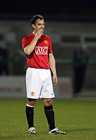 Photo: Paul Thomas.<br />Manchester United v Stockport County. Manchester Senior Cup. 01/11/2007.<br /><br />Gary Neville of Man Utd makes his return from injury in this reserve game against Stockport.