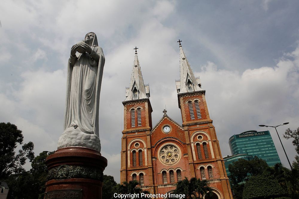 The Notre Dame Cathedral in Saigon,<br />  photo by Dennis Brack