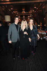 Left to right, JESSE WOOD, JO WOOD and TILLY WOOD at a party to celebrate the 135th anniversary of The Criterion restaurant, Piccadilly, London held on 2nd February 2010.