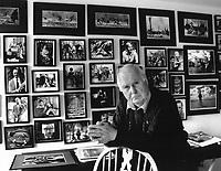 British photographer Terry Fincher seen in his studio in Blackheath, Surrey, UK in 2006.