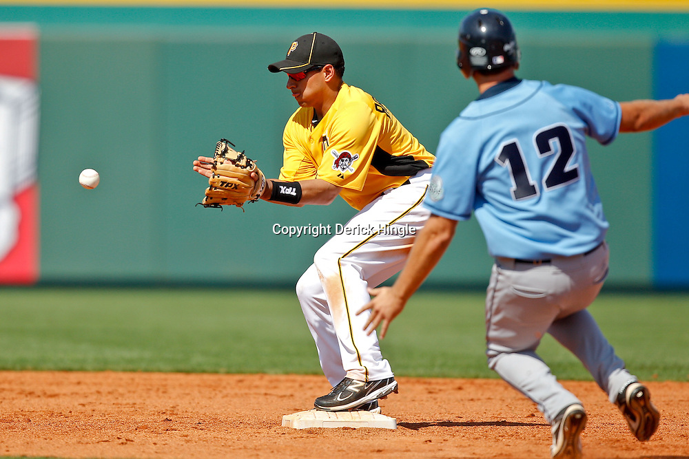 February 25, 2011; Bradenton, FL, USA; during a spring training exhibition game against the State College of Florida Manatees at McKechnie Field. The Pirates defeated the Manatees 21-1. Mandatory Credit: Derick E. Hingle