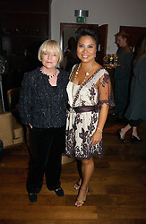 Left to right, ANNE CROSSLAND and Shoe designer TARYN ROSE  at a party to launch her atest collection held at Morton's, Berkeley Square, Lonon W1 on 11th September 2006.<br /><br />NON EXCLUSIVE - WORLD RIGHTS