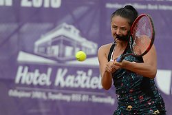 May 20, 2018 - Trnava, Slovakia - VIKTORIA KUZMOVA of Slovakia in the final of the Empire Slovak Open tennis tournament in Trnava Slovakia (Credit Image: © Christopher Levy via ZUMA Wire)