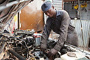Nicholas is working as a trainee mechanic as part of the Into Work programme run by Action for children in conflict (AFCIC). This is at Jua Cali Garage in Thika, Kenya.  He will also go to school between 7 and 9am to learn literacy and maths.