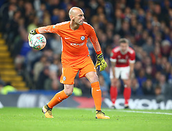 September 20, 2017 - London, Greater London, United Kingdom - Chelsea's Willy Caballero.during Carabao Cup 3rd Round match between Chelsea and Nottingham Forest at Stamford Bridge Stadium, London,  England on 20 Sept  2017. (Credit Image: © Kieran Galvin/NurPhoto via ZUMA Press)