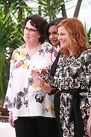 Actress Phyllis Smith, Mindy Kaling and Amy Poehler Inside Out film photo call at the 68th Cannes Film Festival Monday May 18th 2015, Cannes, France.