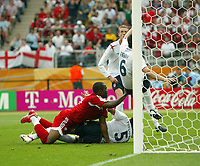 Photo: Chris Ratcliffe.<br /> England v Trinidad & Tobago. Group B, FIFA World Cup 2006. 15/06/2006.<br />  John Terry cleared off the line.
