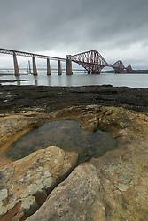 View toward the Forth Bridge at South Queensferry near Edinburgh