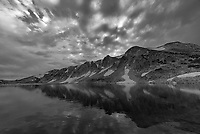 The sunset over South Gap Lake wasn't very colorful. But converting the picture to black and white gave it a more dramatic look.