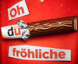 Germany, Freiburg - December 17, 2018.Christmas Ferrero Duplo chocolate advertising (Credit Image: © Antonio Pisacreta/Ropi via ZUMA Press)