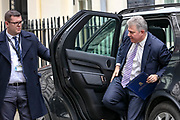 February 25, 2020, London, England, United Kingdom: Secretary of State for Northern Ireland Brandon Lewis arriving at 10 Downing Street, in London on Tuesday, Feb. 25, 2020. (Credit Image: © Vedat Xhymshiti/ZUMA Wire)